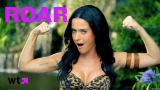 Katy Perry Roars At Tigers In Official Music Video   What's Trending Now