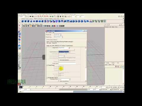 Maya Tutorial:  Command Line Rendering (Part 2 of 2)
