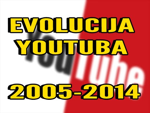 EVOLUCIJA YOUTUBA (JUTUBA) 2005-2014 HD