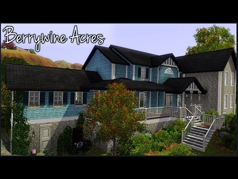 The Sims 3 Home Building - Collab w/ Simming with Abbi (Part 1) - Berrywine Acres