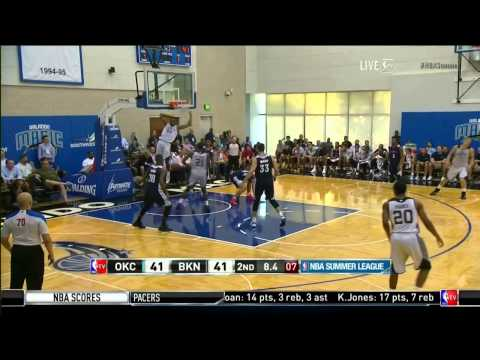Markel Brown Slams in Alley Oop -- 2014 Summer League