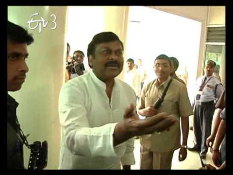 Actor Chiranjeevi and His Family Forcibly Sent To Que Line For Voting