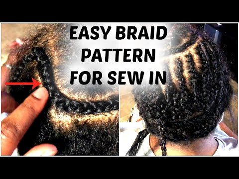The Best Braid Pattern for Middle Part Sew In