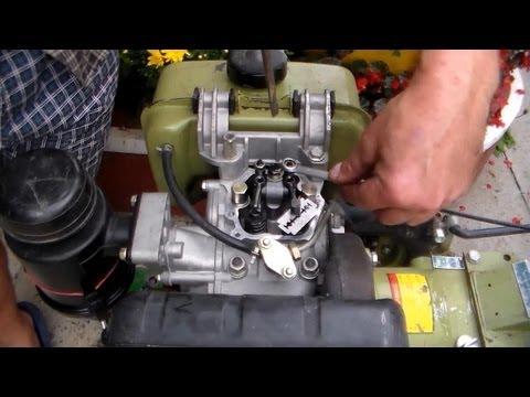Регулировка зазора клапанов двигателя мотоблока