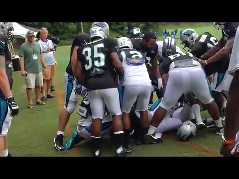 Cam Newton Gets Into Fight with Teammate at Practice, Does the Stanky Leg