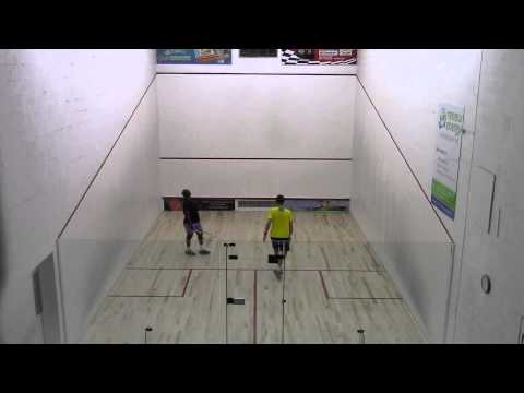2014 Barbados Veterans National Squash Champ - Semi - Gill Vs White