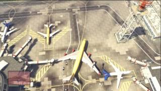 GTA V (GTA 5): Jumbo Jet Airplane Fail Gameplay (Xbox 360