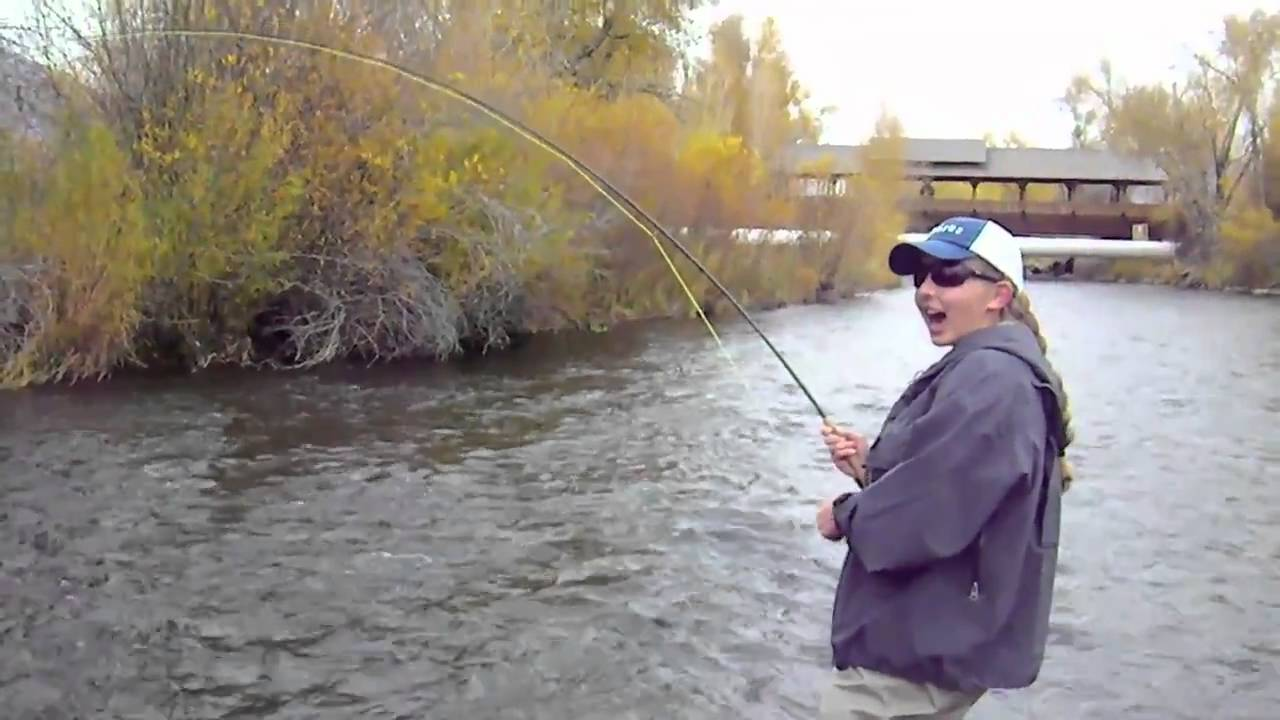 A cute girl fly fishing on the provo river utah fly guides for Fly girl fishing charters