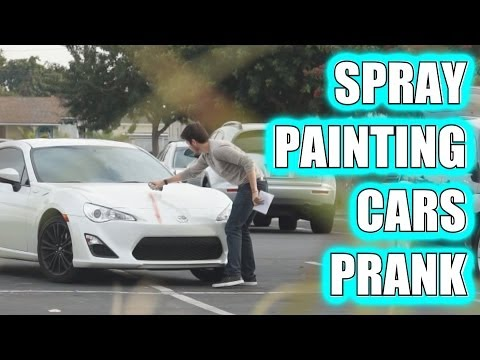 SPRAY PAINTING CARS PRANK!!