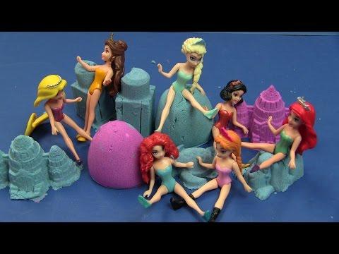 Buổi Đi Chơi Biển Cùng 7 Nàng Công Chúa Disney - Kinetic Sand & Disney Princess