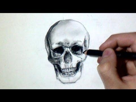 Comment dessiner une t te de mort tutoriel youtube - Dessiner une tete de mort ...