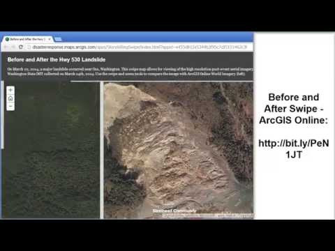 Investigating the Oso Washington Landslide Using a Swipe Map in ArcGIS Online