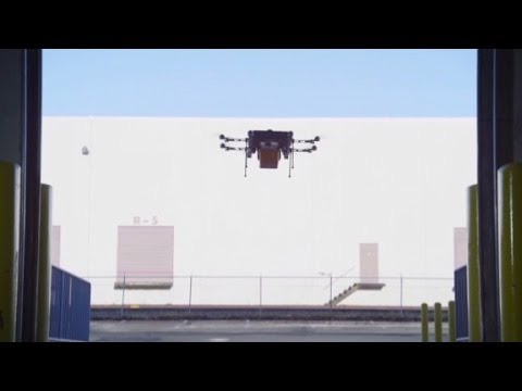 Watch Amazon demo drone delivery service