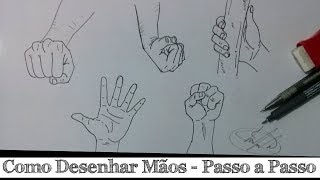 Como Desenhar Mãos Passo A Passo How To Draw Hands