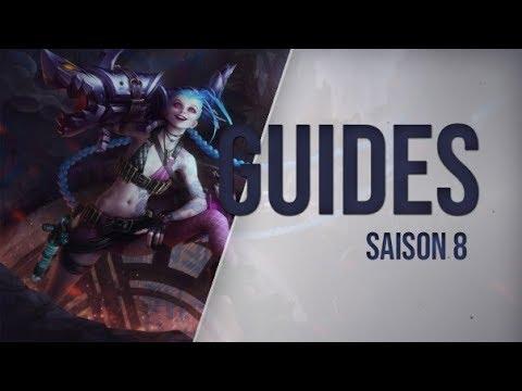 Guide LoL Jinx, ADC, S8 league of legends 2018