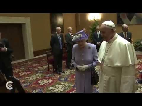 Pope to queen: Pray for me!