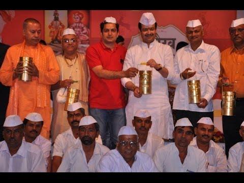 Rashtra Sant Bhaiyyuji Maharaj Spiritual Retreat At Mumbai Dabbawala @12 Felicitation