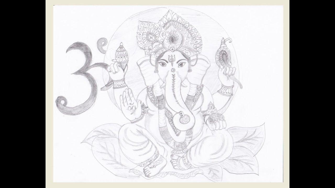 Drawing - Lord Ganesha - YouTube