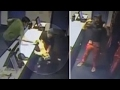 Worker snatches falling toddler with one hand like a boss