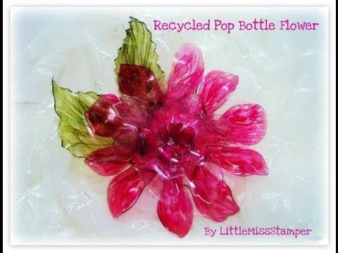 Необычный цветок из пластиковой бутылки