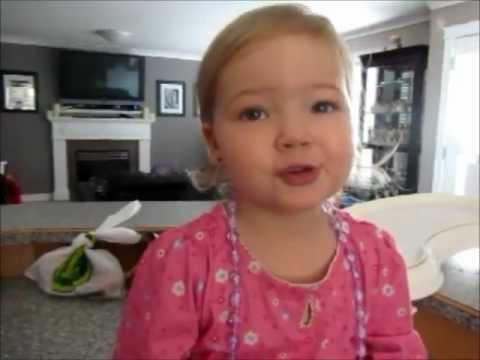 2yr old Makena sings Adele...so cute