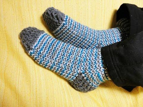 Cómo tejer calcetines con telar circular
