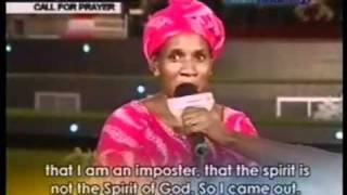 Fake Prophetess With Evil Spirit In Church