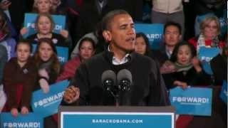 The Road to November 6Th: President Obama in Bristow, Va: Full Speech