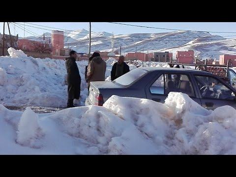من ايت هاني معاناة الساكنة مع التساقطات الثلجية