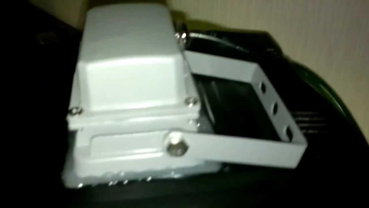 aqua 40 mit 10 watt led fluter als beleuchtung kaltweiss youtube. Black Bedroom Furniture Sets. Home Design Ideas