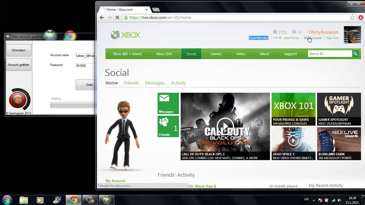 how to switch to accounts on xbox live