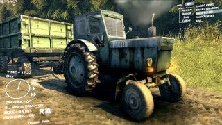 Spin Tires Dev Demo July 2013 T 40 Tractor + Trailer