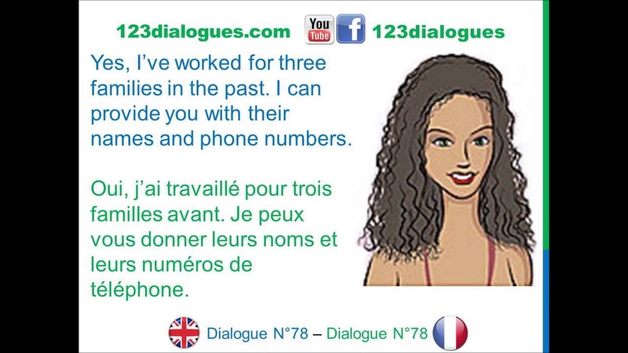 dialogue 78 - english french anglais fran u00e7ais