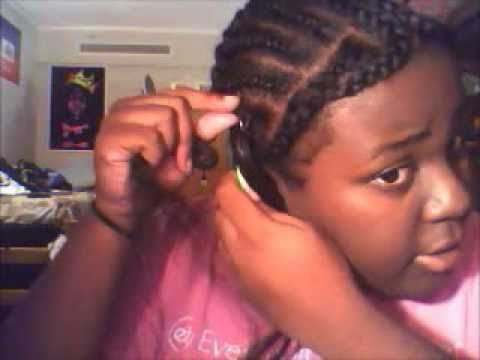 Crochet Straight Hair Youtube : Crochet Braids- Kanekalon Hair Straight w/ Leave Out - YouTube