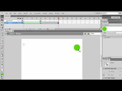 Aprenda a usar o Flash CS5 - Aula 7 -- Usando o Stop