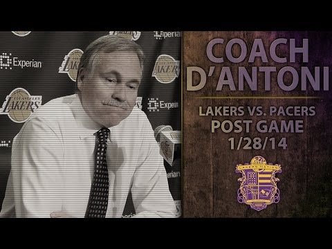 Lakers vs. Pacers: Coach D'Antoni Reacts To Kobe Bryant Injury Update, Pau Gasol's Groin