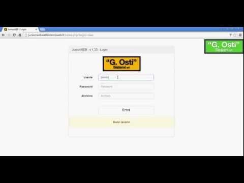 Software presenze JuniorWEB visualizzazione cartellino dipendente con credenziali user