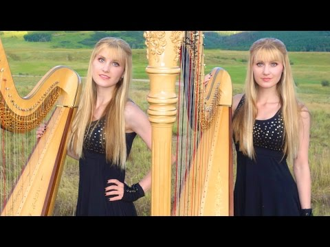 DON'T STOP BELIEVING - Journey (Harp Twins) Camille and Kennerly