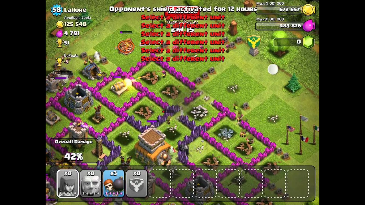 Clash of clans attack strategy youtube
