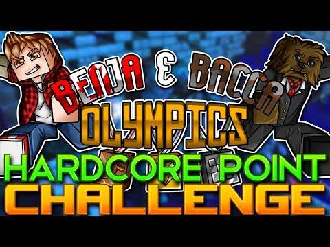 Minecraft: Benja & Bacca Olympics Game 8 - Hardcore Point Challenge!