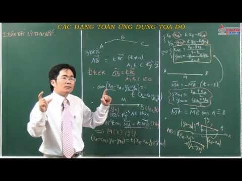 Video hình học lớp 10 - Vectơ - Các dạng toán ứng dụng tọa độ - Cadasa.vn
