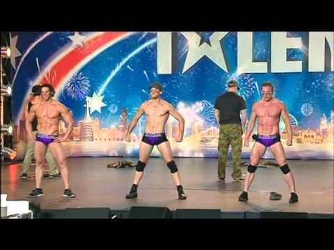 HUNKMANIA -  Male Strippers - Australia's Got Talent 2012 audition 6 [FULL]