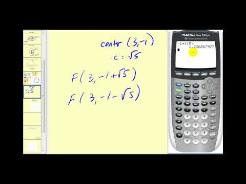 Conic Sections: The Ellipse part 1 of 2