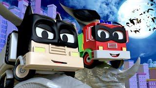 El Camión de Bomberos y su bebé son BATMAN Y ROBIN - El Taller de Pintura de Tom La Grúa  🎨