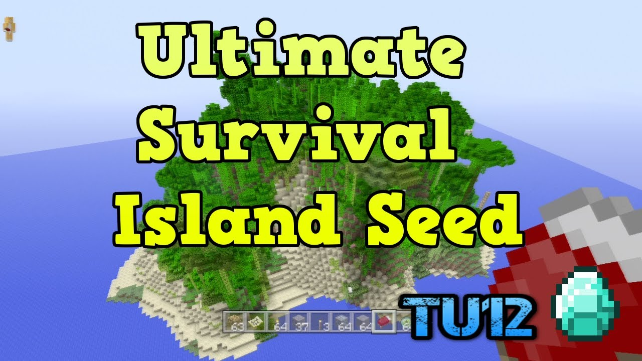 "Minecraft Xbox 360 - Jungle ""Survival Island Seed"" (TU12 ..."