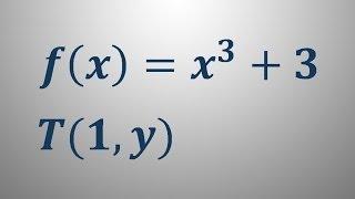 Enačba tangente v točki – naloga 1