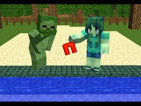 Monster School: Girls vs Boys Swimming Challenge - Minecraft Animation