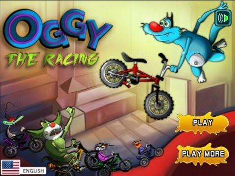 Phim hoạt hình mới nhất oggy đua xe đạp level 1