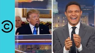 President Donald Trump Can't Keep Hish Dentures In Hish Mouth | The Daily Show
