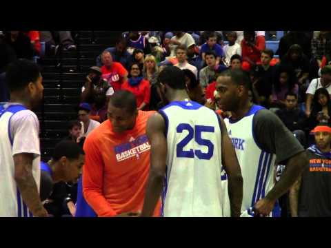 NEW YORK KNICKS TRAINING CAMP - ORANGE & BLUE SCRIMMAGE